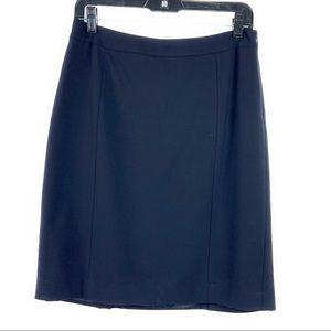 Lafayette 148 Navy Pencil Skirt
